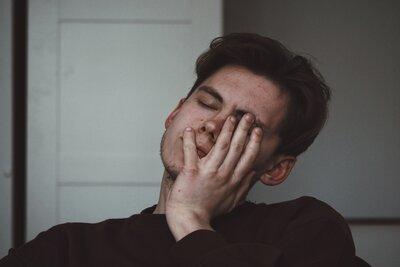 man fatigued